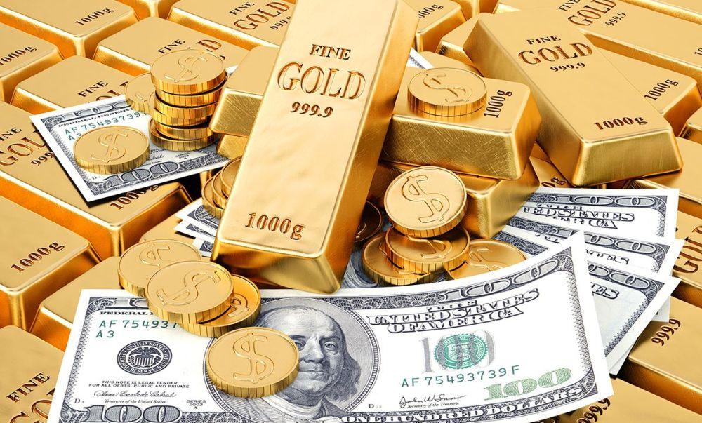 доллары и золото