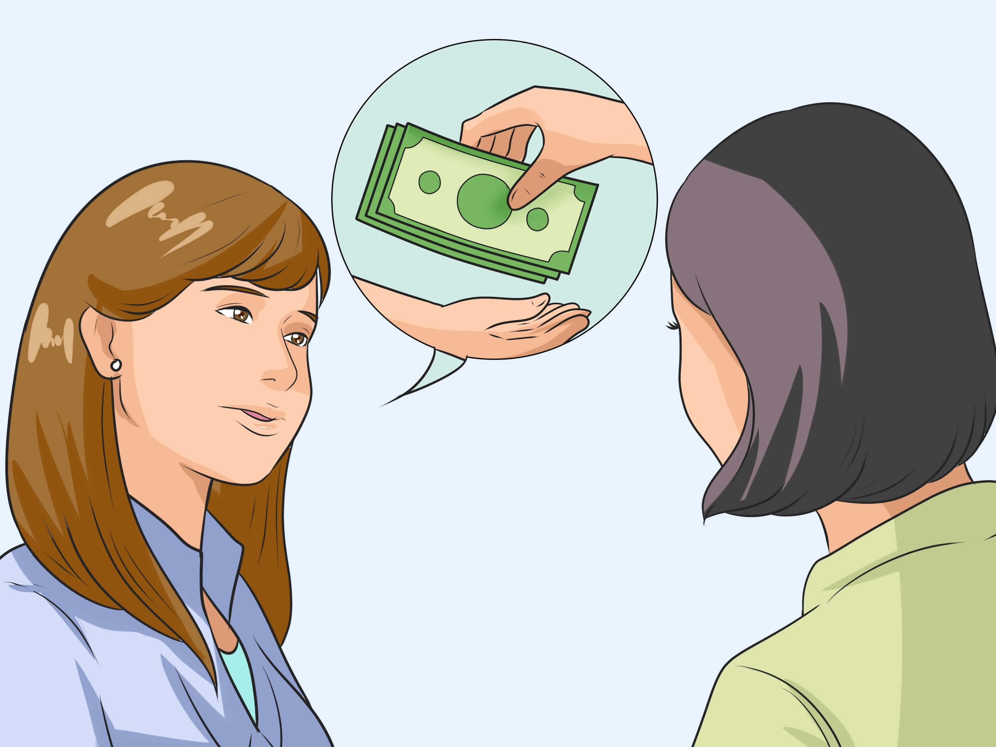 попросить денег
